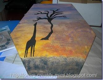 tableau africain girafe