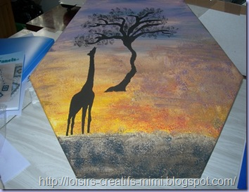 tableau africain girafe suite