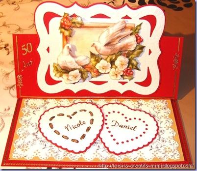 carte chevalet 3D Anniversaire de Mariage