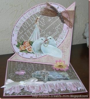 carte 3D chevalet  mariage