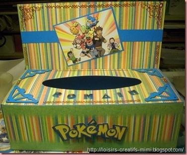 boite à mouchoir pokemon