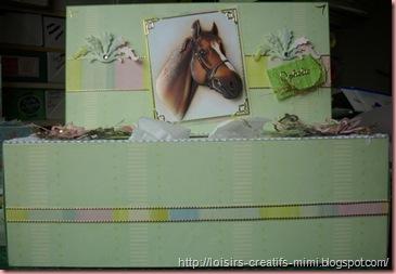 boite à mouchoir cheval en 3D