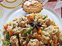 Nutri Pulao/Pulav with Butter Masala