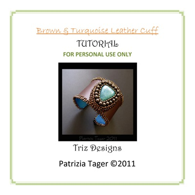 Brown & turquoise Cuff Tutorial copy