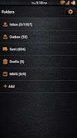Screenshot of Leather Orange GoSMS Theme