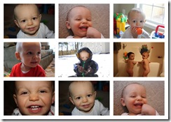 11 month old Owen collage
