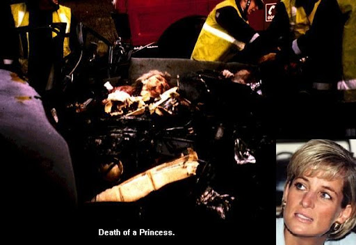 princess diana crash pics. princess diana in car after