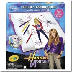 Toysdepot Crayola Hannah Montana Light Up Designer Studio