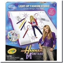 Toysdepot Crayola Hannah Montana Light Up Designer Studio