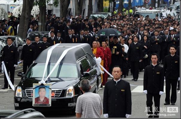 funeral de chefe de máfia de Taiwan (2)