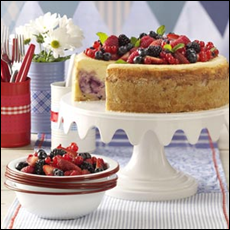 red white and blue cheesecake a Taste of Home