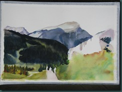 Sunshine meadows watercolor start