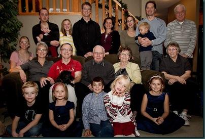 photo of all twenty at Christmas 2010