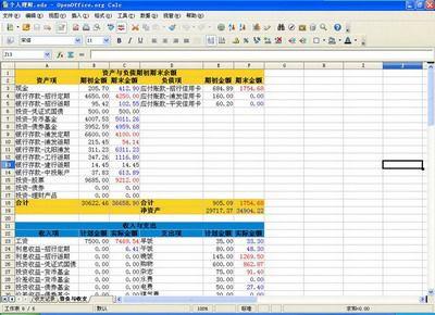 云鹏个人理财工具0.5版说明书-工具说明(OpenOffice 3.0)