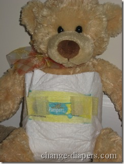 newborn disposable diaper front