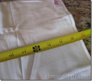 flip diaper organic insert length unprepped