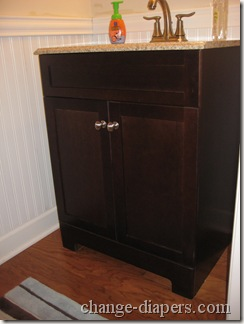 vanity with granite top