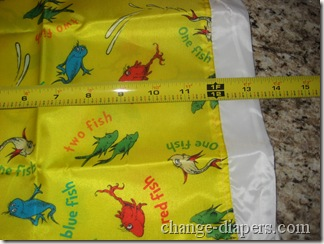 Bumkins Cloth Diaper Wet Bag Length