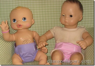 rumparooz on baby alive and bitty baby