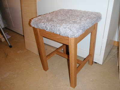 My Sheepskin Stool
