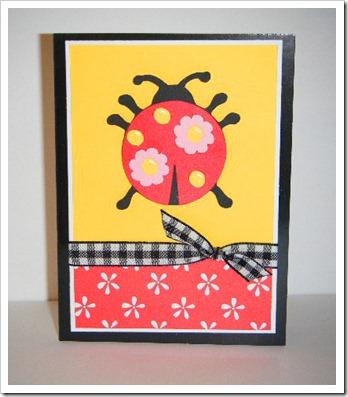 paisley ladybug card