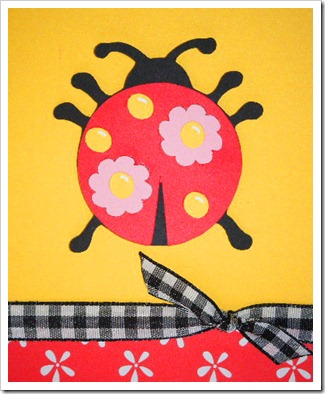 paisley ladybug card close up