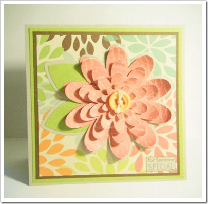 PEACHY MOMS DAY FLOWER CARD 2