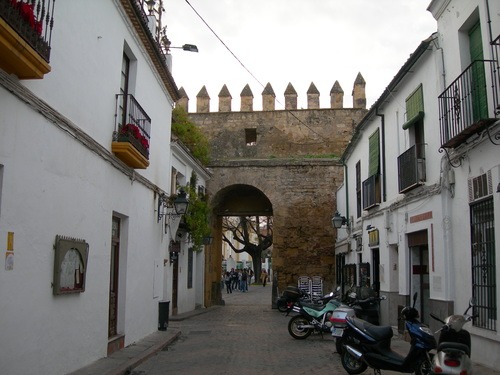 Puerta de Almodóvar desde el interior