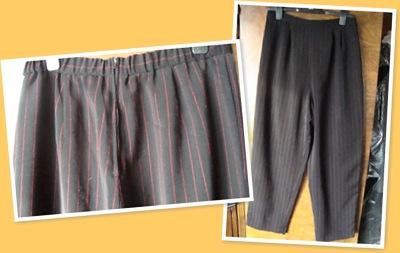 View Pantaloni cu dungi rosii