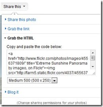 flickr grab html