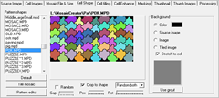 Cell Shape Tab in Mosaic Creator