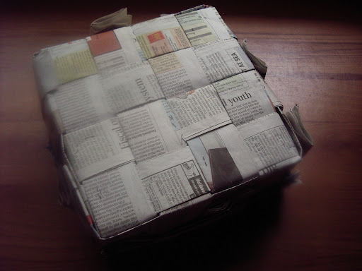 How To Make A Newspaper Basket With Top : How to make a newspaper basket dress your home leading