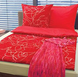 Red Bed Linen from Portico