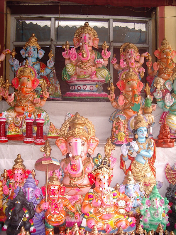 Ganesha idols on display at Poompuhar