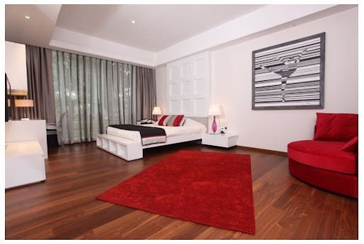 False ceiling and concealed curtains