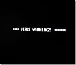 virus warning