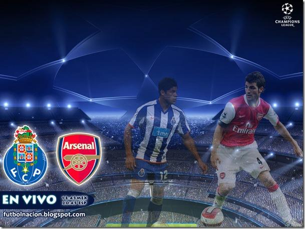 porto vs arsenal en vivo champions league 2010