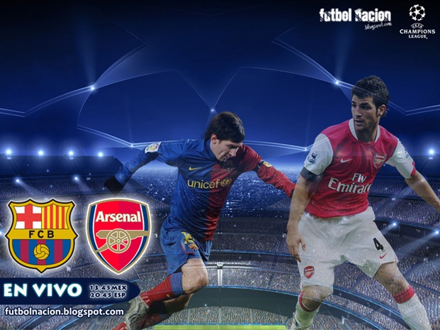 barcelona vs arsenal en vivo champions 2010