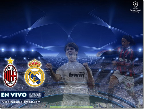 milan vs madrid uefa champions league en vivo