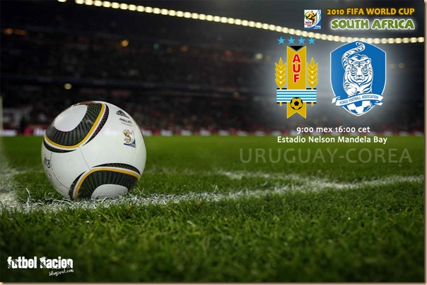 uruguay vs corea del sur en vivo sudafrica 2010