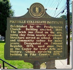Pikeville Collegiate Institute, Pike Co. KY Marker