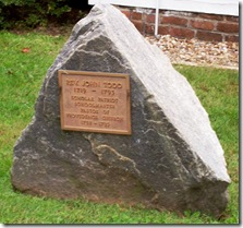 Memorial Marker to John Todd, First Pastor