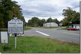 Providence Church Marker on Route 250 (Click to Enlarge)