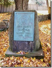 John Brown Marker in front of Tannery foundation