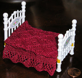 Cable stitch bedspread