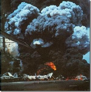 590px-USS_Forrestal_fire_1_1967