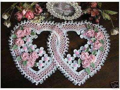 COMPTE_BLOGOF andreiatur : croche com a natureza, toalhas de croche  de coração