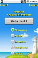 Screenshot of PopMath Lite