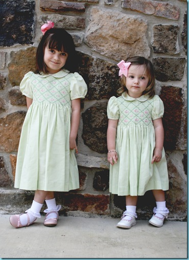 Blakely and Lilly Easter Dresses 2010