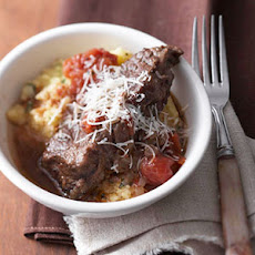 Short Ribs Arrabbiata over Polenta
